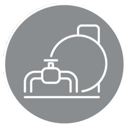 Transportleitungen / Speicher-Hover